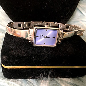 Sale! Silver-tone Guess Watch with Blue Face